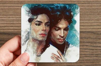 "Prince And Michael Set Of 4 One-Of-A-Kind Decorative Coaster Set 3.88"" X 3.88"""