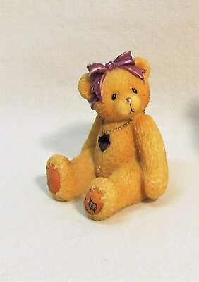 Cherished Teddies Little Sparkles February Birthstone Bear Item #239747 Enesco