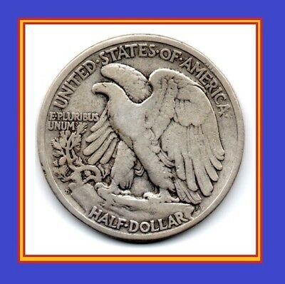 """1944 D Walking Liberty Half Dollar! Hard to find """"D"""" Mint mark! One Coin SILVER!"""