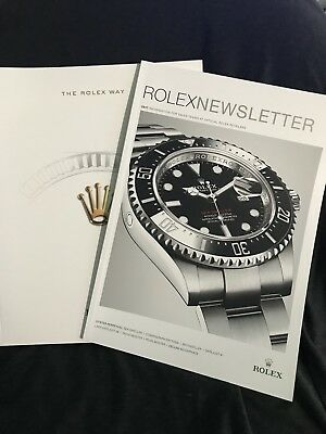 THE ROLEX WAY and 2017 ROLEX Newsletter.  Like New Condition Sea Dweller 50th