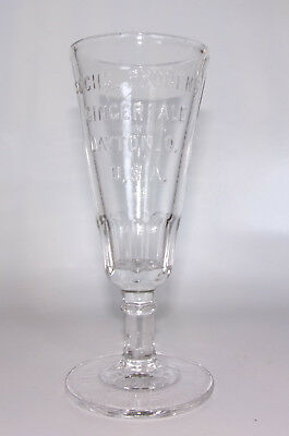 SACHS PRUDEN'S GINGER ALE DAYTON, O. U.S.A. - Advertising Drink Glass