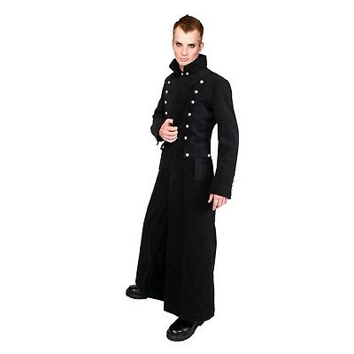 Aderlass Admiral Long Coat Wool Army Gothic Wollmantel Military Wintermantel