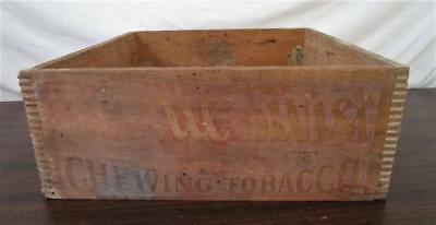 Vintage Wood Liggett & Myers Chewing Tobacco Dove Tailed Box Crate