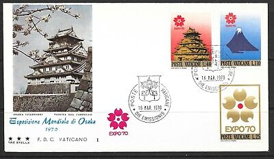 1970 Vatican City first day cover dated 19 March 1970 World Expo 1970 Osaka