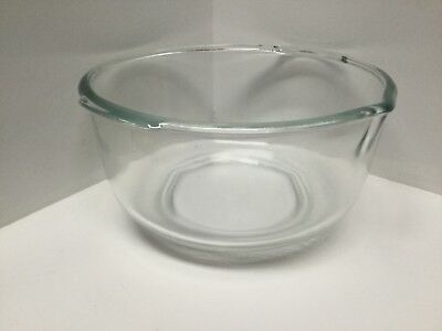 Vintage Oster Mixing Bowl Clear Glass Pour Spout Handles 9.5 Inch R31