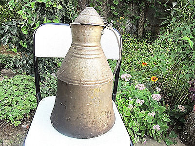 Old Rare Antique Primitive Aluminum Big Milk Churn Pot