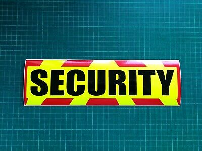 SECURITY MAGNET DOG HANDLER MAGNETIC SIA CHEVRON DAYGLO Sticker 300mm