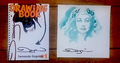 Poison Ivy Original Art & Rare Sketchbook by Fernando Dagnino Signed w/Photo
