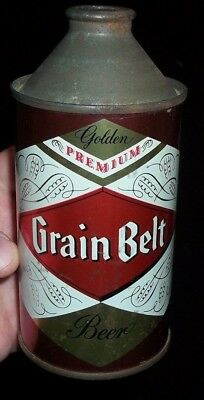"early grain belt beer conetop beer can ""empty"" not hamms beer"