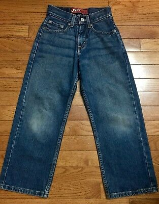 Boys Levi's 569 Loose Straight Leg Jeans Size 8 Slim