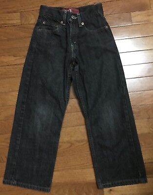 "Boys Levi's 569 Black Denim ""Loose Straight"" Jeans Size 8 Slim"