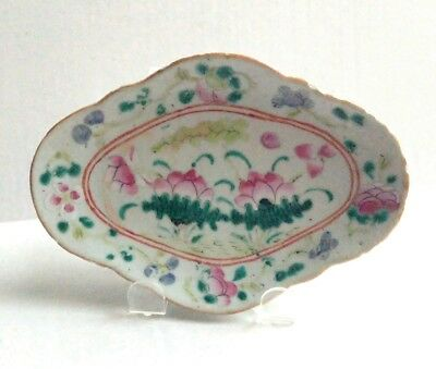 Nice Old Chinese Famille Rose Porcelain Footed Bowl 19th Century
