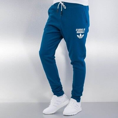 adidas Originals Girls Low Crotch Womens Gym Tracksuit Track Jogging Pants Blue