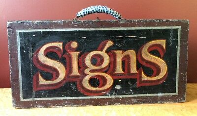 Early Hand Painted Antique Sign Painter's Tool Art Box