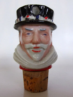 Ceramic & Cork Bottle Top Pourer BEEFEATER GIN - WADE MADE IN GREAT BRITAIN