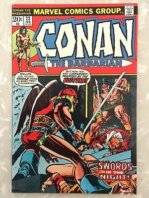 Conan The Barbarian #23 Vf/nm- 9.0 First Red Sonja Barry Smith Marvel 1973 Reh