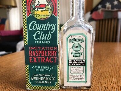 Country Club McMurray St Paul MN Raspberry Extract Bottle Box Golf spice tin