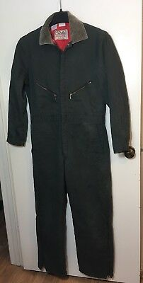 Walls Blizzard Pruf Mens Insulated Blue Coveralls Size M 38-40 Vintage
