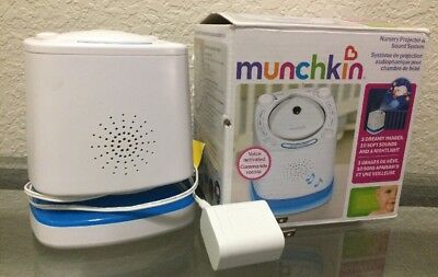 Munchkin MK0038 Nursery Projector and Sound System, White (BB-50)