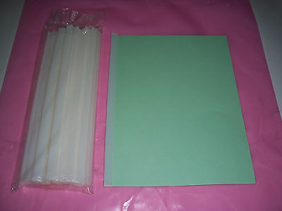 White Sliding Bar Report Cover spines, SPINES ONLY Pack Of 25