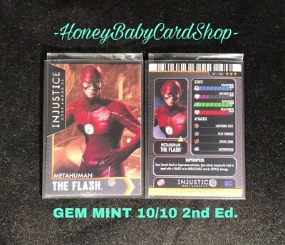 Injustice Arcade GEM MINT 10/10 Card 93 Metahuman The Flash