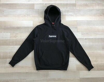 Black Supreme Bogo Box Logo Hoo Fw16