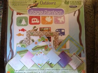 Deluxe Scrapbook Kit - Page Perfect -  30.2Cm X 30.2Cm -6 Pages