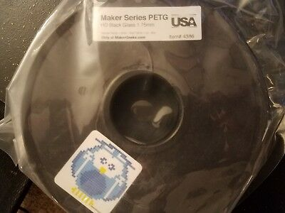 Maker Geek Petg Maker Series 3D Printer Filament - 1.75Mm - Hd Black Glass 1Kg