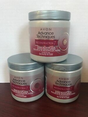 *Lot Of 3*Avon Advance Techniques Reconstruction 7 Intense Recovery Mask *FRESH*