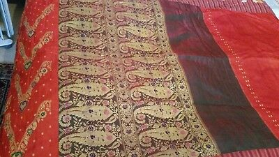 Antique quilt vintage purchased in france bed spread cover beautiful original