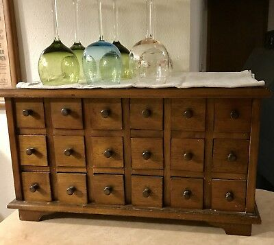 Antique Apothecary Cabinet,18 Drawer Chest, Excellent