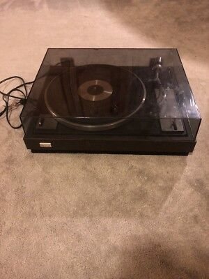 Vintage Sansui FR-1080 Turntable Phono Tested Wooden Record Player