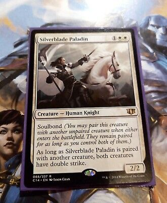 SILVERBLADE PALADIN 088/337 C14 Commander 2014 RARE Mtg Magic the Gathering NEW