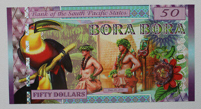 50  Dollars * South Pacific States * Polymer * 2016 * UNC