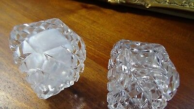 Vintage hand cut crystal salt and pepper shakers