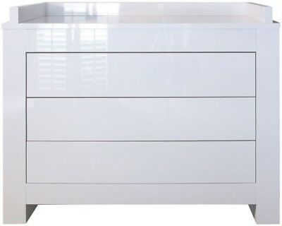 Kidsmill Somero Chest of Drawers - White Glossy (changing mat baby toddlers)