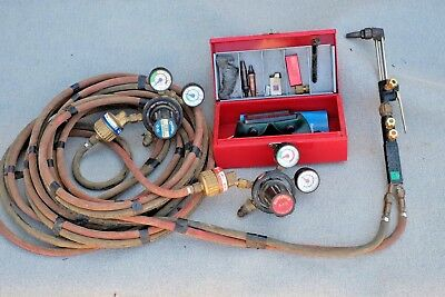 Blow torch gas cutting and  welding equipment -  BOC with long 6m hoses..