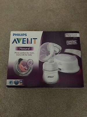 Philips AVENT Natural Comfort Single Electric Breast Pump SCF332/01 Brand New