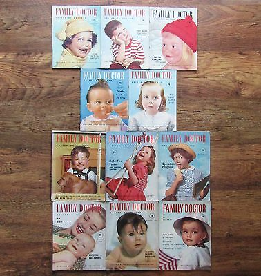 11 Vintage Collectable FAMILY DOCTOR Magazines 1955 to 1962