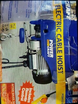 Electric cable hoist, power craft, 550w ideal lifts upto 250kg (230v/50hz)