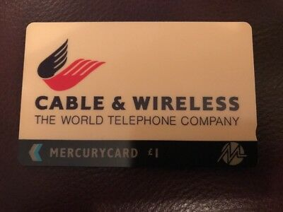 C&W Cable and Wireless Logo Mercurycard MER149 £1 RARE