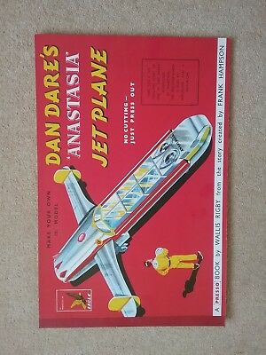 Eagle Dan Dare's Anastasia press out model in mint condition 1950s