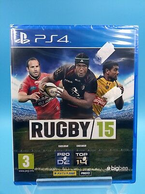 video game sony playstation 4 ps4 new blister official PAL rugby 15