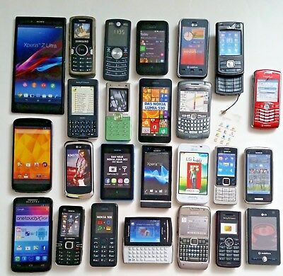Konvolut Handy Dummy Attrappen 25 Stk. LG Nokia Samsung Alcatel Sony - Requisite