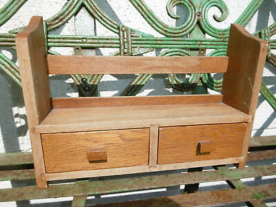 Mid century hand made wooden book shelf drawers good condition