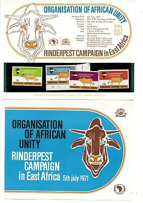 East Africa - 1971 Rinderpest Campaign PP + strip of 5 x 70c mint