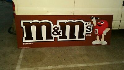 HUGE M & M 's TIN METAL SIGN 238cm X 80cm ,  Collectors sign. RARE FIND