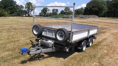 Ifor Williams TT126 Tipping Tipper Trailer VERY good order &  NO VAT E Sussex