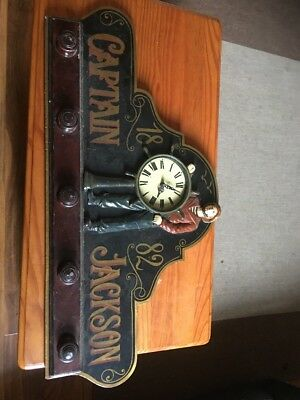 Vintage Country Corner Captain Jackson  Ship Wheel Clock 1882 Coat Hanger