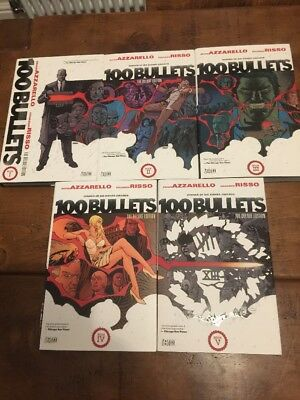 100 Bullets Deluxe Hardcover Vol 1 - 5 Complete Set